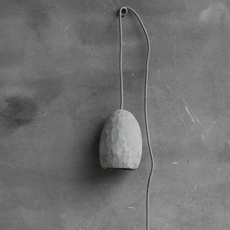 verlichting hanglamp beton l. Black Bedroom Furniture Sets. Home Design Ideas