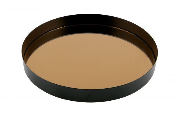 Spiegel Zwart Metaal : Accessoires jay dienblad met spiegel metaal zwart cm