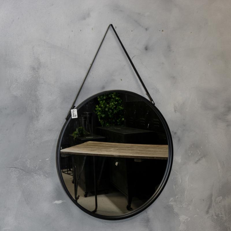 fotolijsten spiegels metalen spiegel rond metaal met
